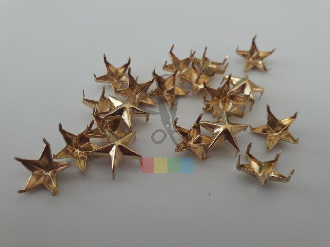 cvok ve tvaru hvězdy - zlatý
