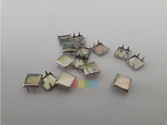 cvok ve tvaru čtverečku - stříbrný