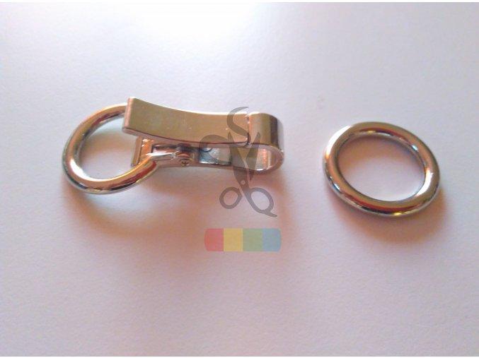 zapínání ozdobné na kabelku 75 x 28 mm stříbrné