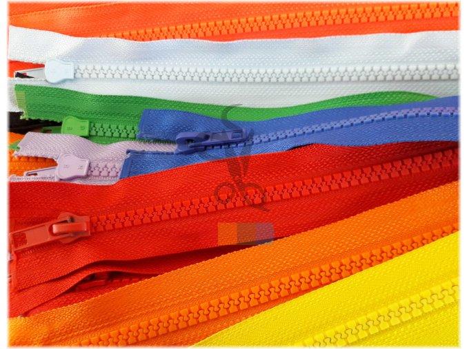 kostěný zip 65 cm, dělitelný