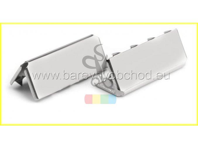 kovové zakončení 20 mm, barva stříbrná