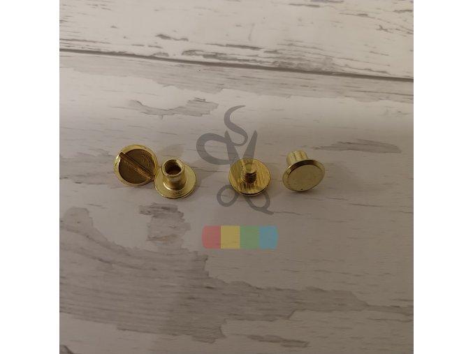 opaskový šroubek 6 mm - zlatý