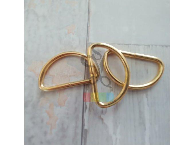 polokroužek 40 mm - zlatý