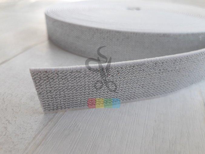guma 20 mm - stříbrná