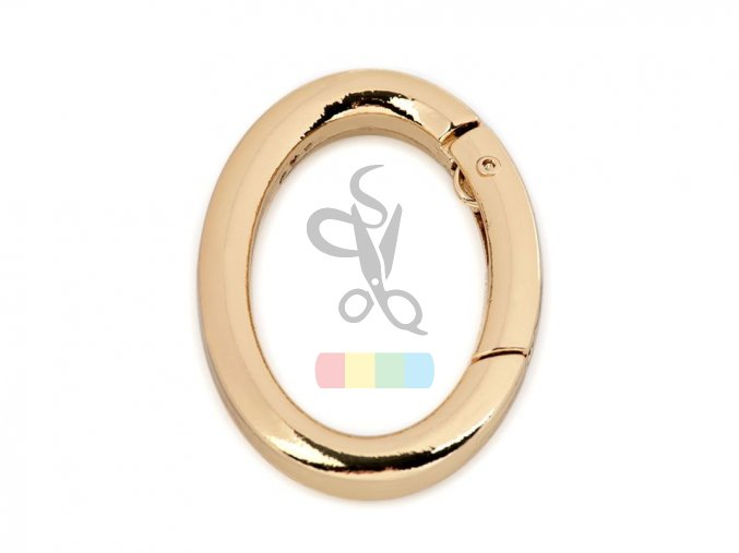Ovál na klíče či kabelky - zlatý
