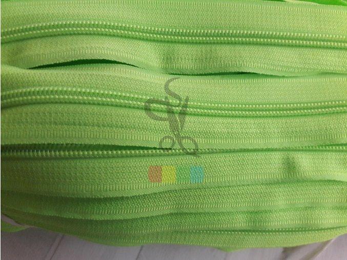 zip spirálový v metráži - 5 mm - neonově zelená