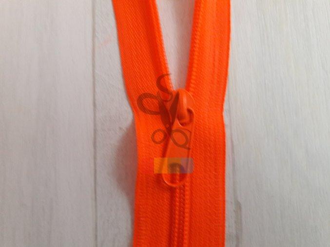 jezdec k metrážovému spirálovému zipu 5 mm - neon oranžová