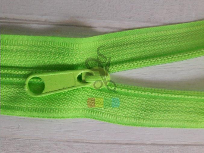 jezdec k metrážovému spirálovému zipu 5 mm - neon zelená