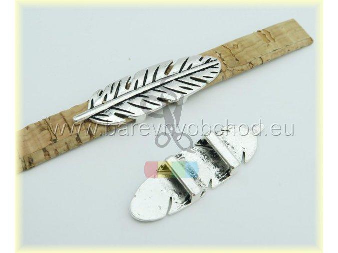 pírko pro plochý pásek 10 mm - stříbrné