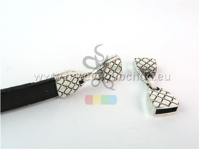 zapínání pro plochý pásek 10 mm - hadí kůže
