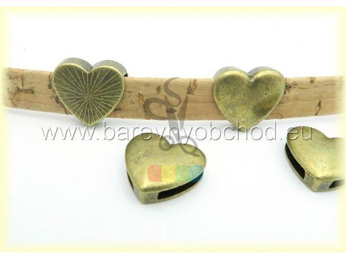 srdíčko pro plochý pásek 10 mm - zlaté