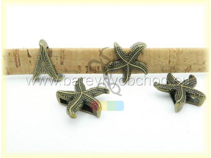 hvězdice pro plochý pásek 10 mm - bronz