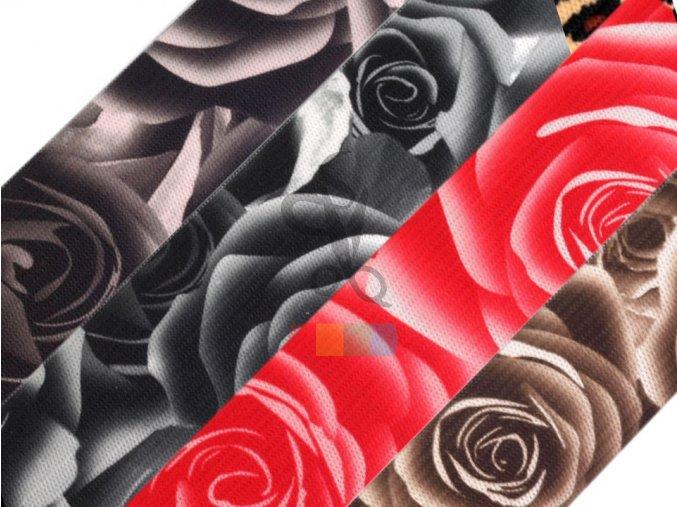 pruženka s potiskem růží - více barev