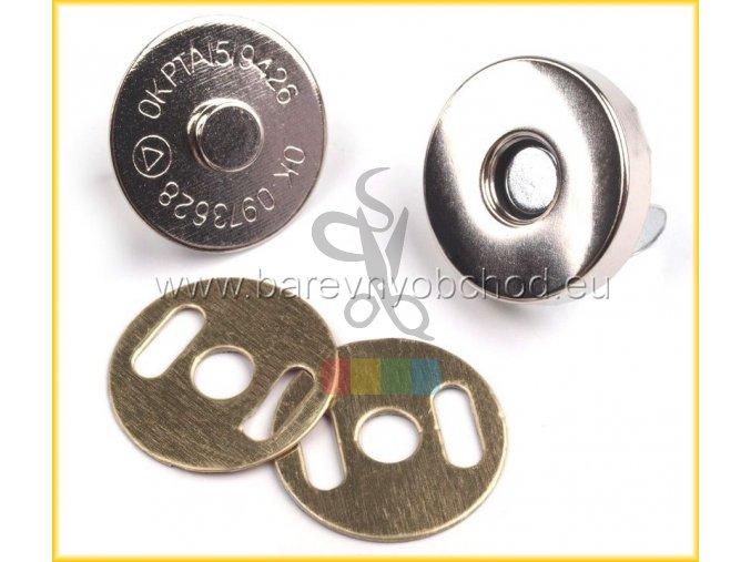 magnetické zapínání průměr 18mm nikl