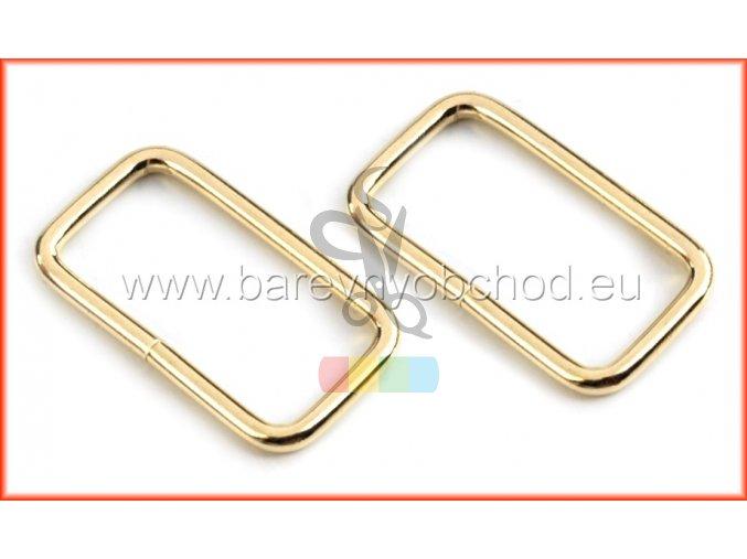 Průvlek 13x25 mm - zlatá