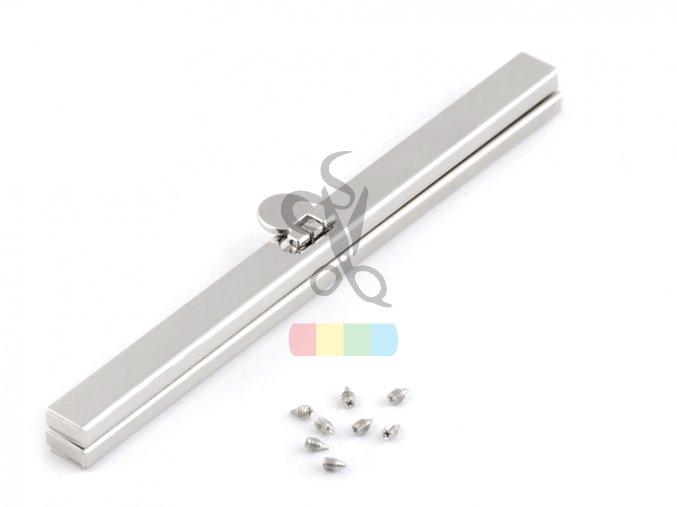rámeček na výrobu kabelky 1 x 15 cm vkládací - stříbrný