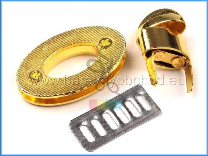 zapínání na kabelku otočné - zlaté