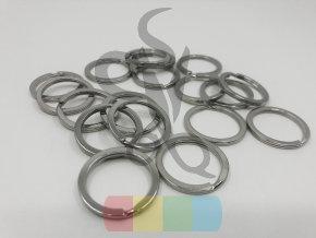 kroužek klíčový plochý 20 mm - stříbrný