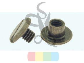 steel screw post antique brass 3677 l