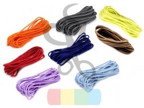pruženka kulatá 2 mm - návin 3 m - různé barvy