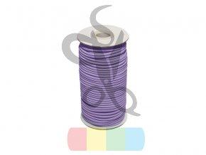 pruzenka 2 mm fialovy 373 polyester 50 m