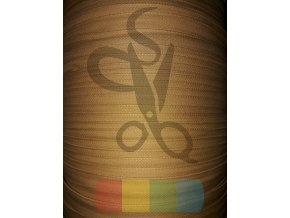 bavlněný tkaloun - zdrhovadlovka - 12 mm - středně hnědá