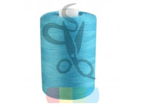 polyesterová nit pro overlocky i klasické šití návin 1000 m - tyrkysová