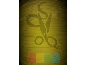 bavlněný tkaloun - zdrhovadlovka - 12 mm - žlutá