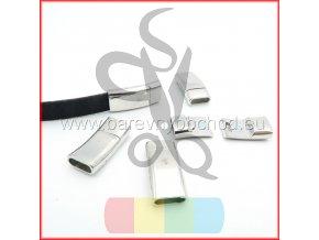 magnetické zapínání pro plochý pásek 10 mm - stříbrné