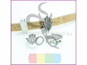 dlaň pro plochý pásek 10 mm - stříbrná