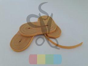 guma plochá 6 mm - návin 2 m - žlutá
