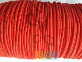 guma kulatá 2 mm - tmavě růžová  (trochu do červena)
