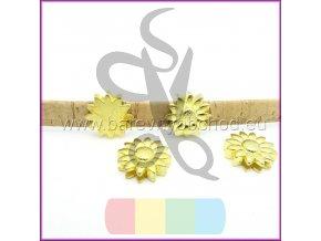 kytička pro plochý pásek 10 mm - zlatá