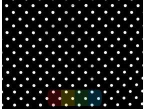 bawelna kropki biale na czarnym tle