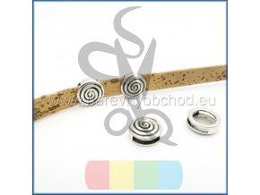 kulatá spirála pro plochý pásek 10 mm - stříbrná