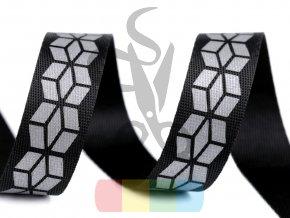 popruh polyesterový s reflexním potiskem, šíře 20 mm