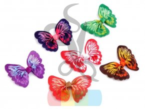 textilní aplikace 3D motýl - různé vzory