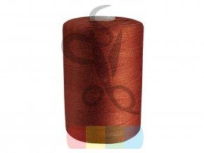 polyesterová nit pro overlocky i klasické šití návin 1000 m - rezavá