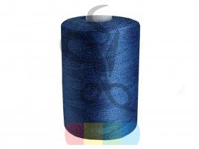 polyesterová nit pro overlocky i klasické šití návin 1000 m - modrá tmavá