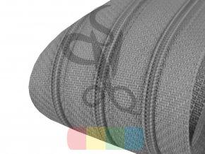 zip spirálový v metráži 3 mm - šedá
