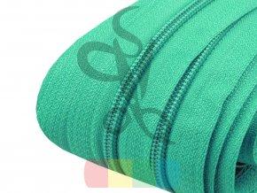 zip spirálový v metráži 3 mm - zelená střední
