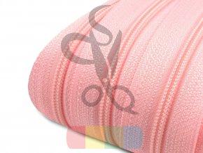 zip spirálový v metráži 3 mm - růžová světlá
