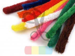chlupaté drátky prům. 15 mm, délka  30 cm - různé barvy