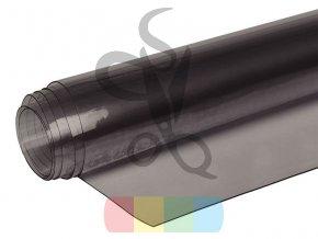 PVC folie transparentní - 65 cm - hnědá