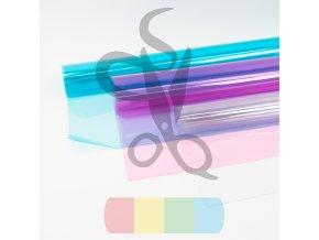 folia pcv transparentna przezroczysta 050 mm niebieska