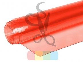 folia pcv transparentna przezroczysta 050 mm czerwony
