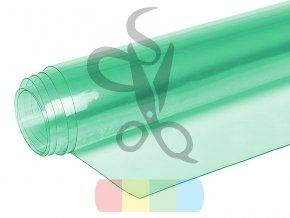 folia pcv transparentna przezroczysta 050 mm zielona