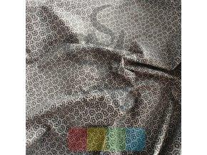 bavlněná látka - černobílá rozeta