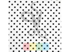 bawelna kropki czarne na bialym tle