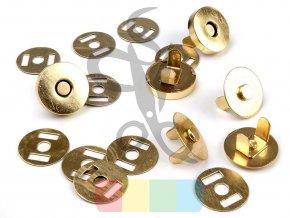 magnetické zapínání průměr 18mm - zlatá barva